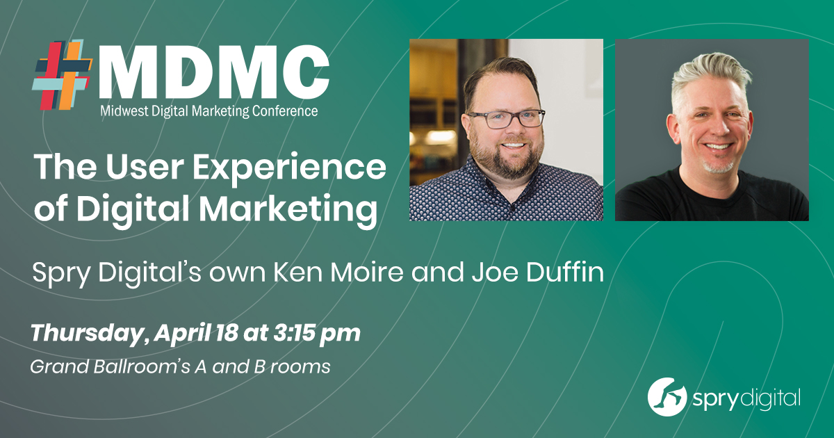 Spry's own Ken Moire and Joe Duffin speak at MDMC promotional ad